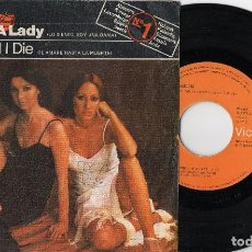 Discos de vinilo: BACCARA SORRY I'M A LADY / LOVE YOU TILL I DIE 1977 SPAIN SINGLE EUROVISION SEXY. Lote 206294177