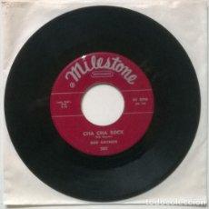 Discos de vinilo: BOB GAYNOR. CHA CHA ROCK/ THE LAST TIME I SAW YOU. MILESTONE, USA 1959 SINGLE (THE PARADONS). Lote 206294688