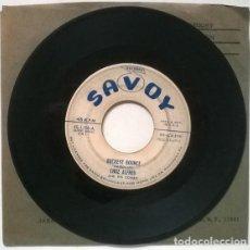 Discos de vinilo: CHUZ ALFRED & HIS COMBO. CARAVAN/ BUCKEYE BOUNCE. SAVOY, USA 1955 SINGLE PROMOCIONAL. Lote 206295271