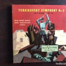 Discos de vinilo: TCHAIKOVSKY SYMPHONY NO 5. BOSTON SYMPHONY ORCHESTRA. BOX. Lote 206298933