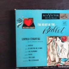 Discos de vinilo: THE HEART OF THE BALLET. LEOPOLD STOKOWSKI. BOX. Lote 206298973