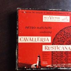 Discos de vinilo: CAVALLERIA RUSTICANA. PIETRO MASCAGNI. BOX. DIFÍCIL. Lote 206299043
