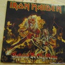Disques de vinyle: IRON MAIDEN – HALLOWED BE THY NAME (LIVE) - SINGLE VINILO ROJO PORTADA POSTER - 1993. Lote 206300155