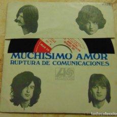 Disques de vinyle: LED ZEPPELIN – MUCHISIMO AMOR / RUPTURA DE COMUNICACIONES - SINGLE 1969. Lote 206300731