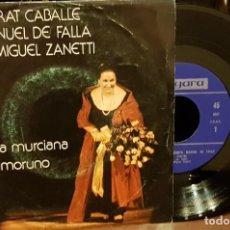 Discos de vinilo: SINGLE MONTSERRAT CABALLÉ CANTA A MANUEL DE FALLA. Lote 206304705