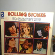 Discos de vinilo: ROLLING STONES : 30 GREATEST HITS ( DOBLE LP VINILO , EDICION ESPAÑA). Lote 206305615