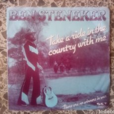 Discos de vinilo: BEN STENEKER. TAKE A RIDE IN THE COUNTRY WITH ME. RAREZA. Lote 206307075