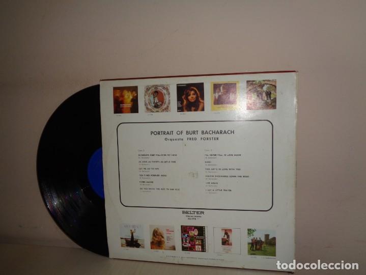 Discos de vinilo: POTRAIT OF BACHARACH-ORQUESTA FRED FORSTER -BELTER - MADRID- 1971- - Foto 2 - 206308370