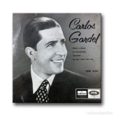 Discos de vinilo: CARLOS GARDEL - MANO A MANO, LA CUMPARSITA, CAMINITO, LO HAN VISTO CON OTRA. Lote 206310081