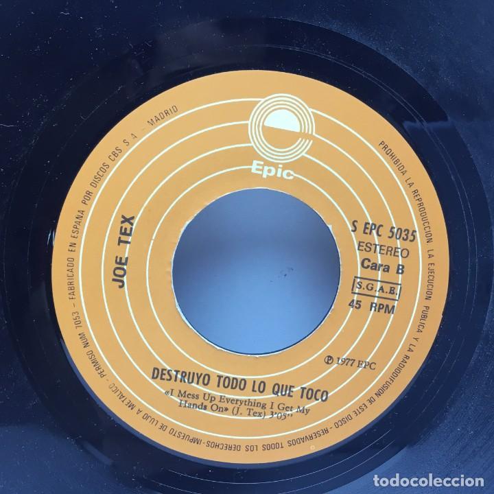 Discos de vinilo: DISCO SINGLE VINILO - JOE TEX - NO BAILARE MAS CON NINGUNA MUJER GRANDE Y GORDA - AÑO 1977 - Foto 4 - 206310990