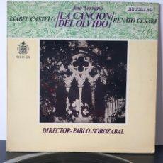 Discos de vinilo: LA CANCION DEL OLVIDO. JOSE SERRANO. DIR: PABLO SOROZABAL. ISABEL CASTELO, RENATO CESARI. ESTEREO.. Lote 206311386