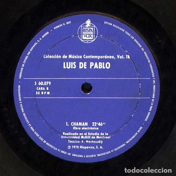 Discos de vinilo: LUIS DE PABLO / GRUPO KOAN - Foto 3 - 206313443