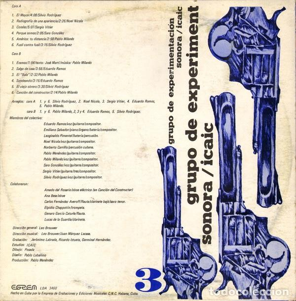 Discos de vinilo: Grupo de Experimentación Sonora del ICAIC (1975) - Foto 2 - 206314451