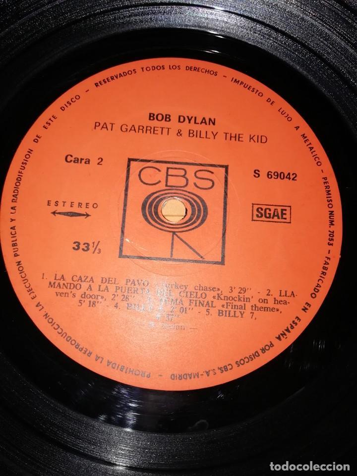 Discos de vinilo: BOB DYLAN SOUNDTRACK. PAT GARRET & BILLY THE KID. CBS 1973. LP - Foto 7 - 206322116