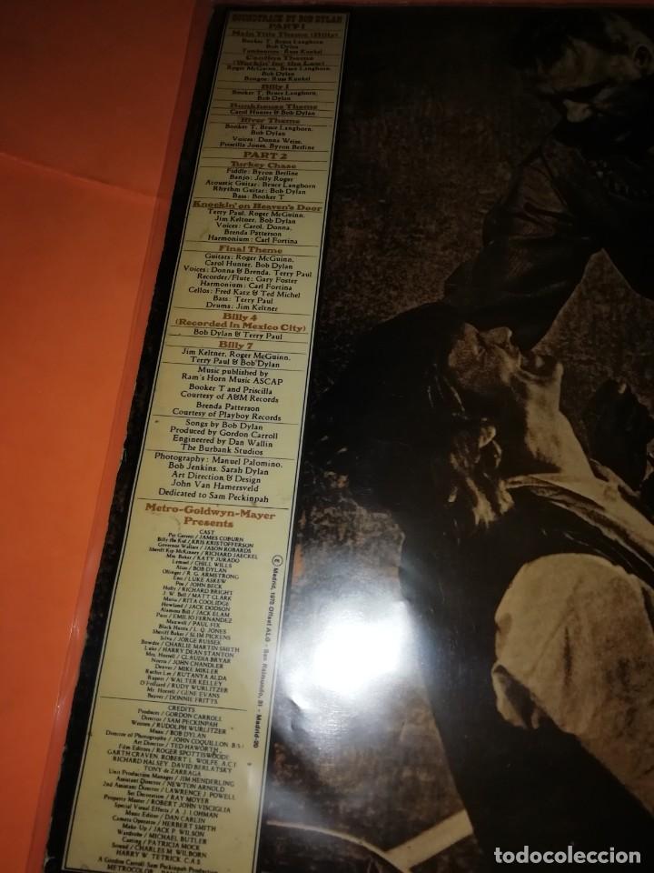 Discos de vinilo: BOB DYLAN SOUNDTRACK. PAT GARRET & BILLY THE KID. CBS 1973. LP - Foto 4 - 206322116