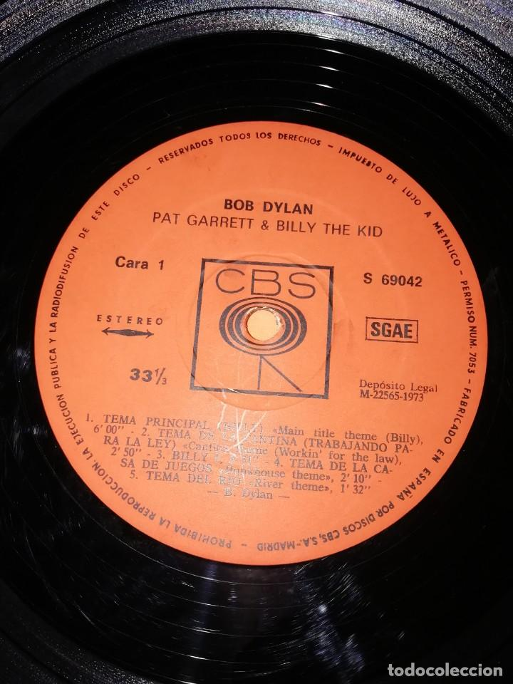 Discos de vinilo: BOB DYLAN SOUNDTRACK. PAT GARRET & BILLY THE KID. CBS 1973. LP - Foto 8 - 206322116