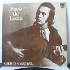 Discos de vinilo: PACO DE LUCIA. FUENTE Y CAUDAL. PHILIPS. 1973. ESPAÑA. 63 28 109. Lote 206347083