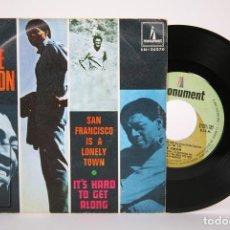 Discos de vinilo: DISCO SINGLE DE VINILO - JOE SIMON / SAN FRANCISCO IS A LONELY TOWN - MONUMENT - AÑO 1969. Lote 206348478