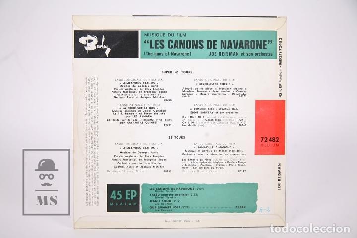 Discos de vinilo: Disco EP De Vinilo - Les Canons De Navarone / Dimitri Tiomkin - Yassu.... - Barclay - Francia - Foto 4 - 206348653