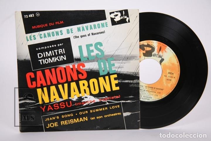 DISCO EP DE VINILO - LES CANONS DE NAVARONE / DIMITRI TIOMKIN - YASSU.... - BARCLAY - FRANCIA (Música - Discos de Vinilo - EPs - Bandas Sonoras y Actores)