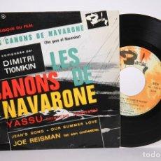 Discos de vinilo: DISCO EP DE VINILO - LES CANONS DE NAVARONE / DIMITRI TIOMKIN - YASSU.... - BARCLAY - FRANCIA. Lote 206348653