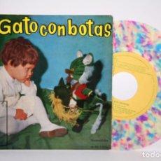 Discos de vinilo: DISCO EP DE VINILO - EL GATO CON BOTAS / VINILO DE COLOR - IBEROFON - AÑO 1960. Lote 206348675