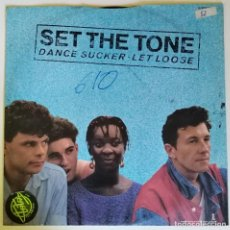 Discos de vinilo: SET THE TONE - LET LOOSE / DANCER SUCKER. 1982 ISLAND ELECTRONIC FUNK SOUL DISCO UK 12''. Lote 206348748