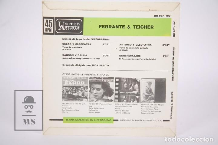 Discos de vinilo: Disco EP De Vinilo - Cleopatra / Ferrante & Teicher - United Artists - Año 1963 - Foto 4 - 206348863