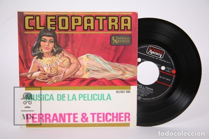 DISCO EP DE VINILO - CLEOPATRA / FERRANTE & TEICHER - UNITED ARTISTS - AÑO 1963 (Música - Discos de Vinilo - EPs - Bandas Sonoras y Actores)