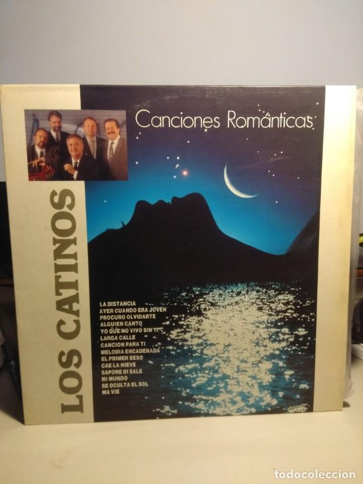 LP LOS CATINOS : CANCIONES ROMANTICAS ( FIRMADO POR 4 MIEMBROS DEL GRUPO) (Música - Discos - LP Vinilo - Grupos Españoles 50 y 60)