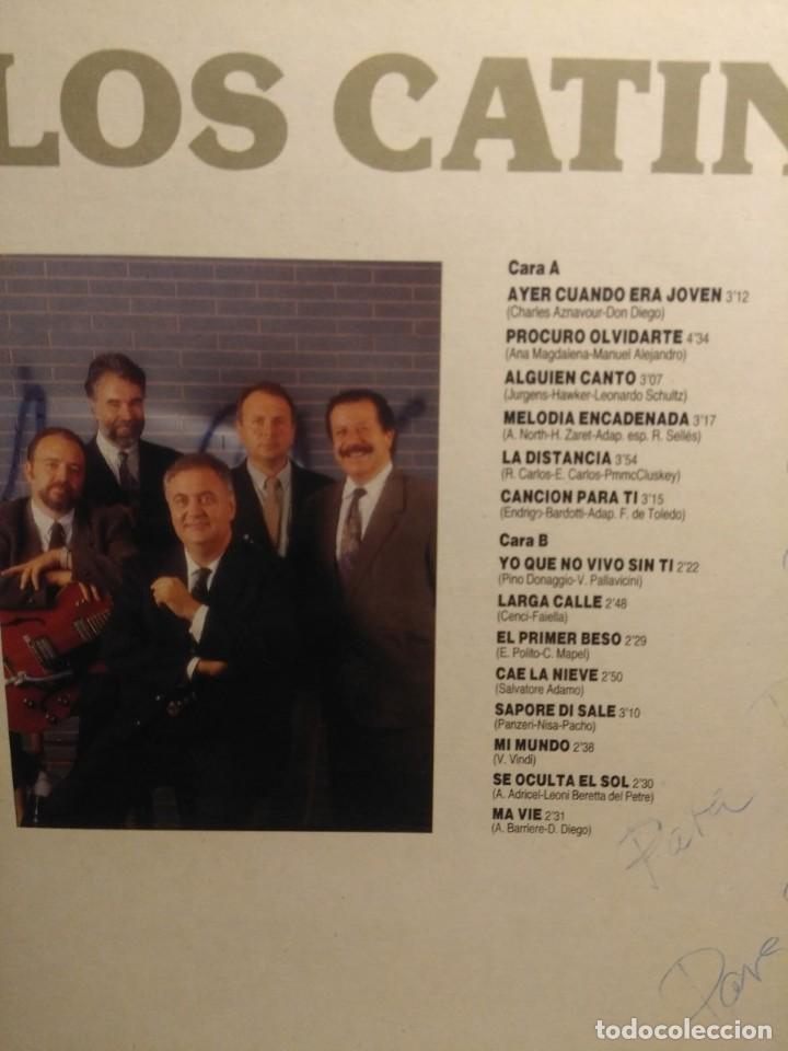 Discos de vinilo: LP LOS CATINOS : CANCIONES ROMANTICAS ( FIRMADO POR 4 MIEMBROS DEL GRUPO) - Foto 3 - 206350260