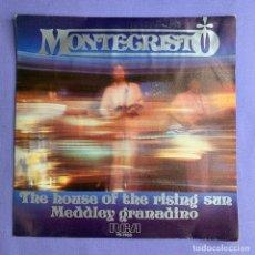 Discos de vinilo: SINGLE MONTECRISTO THE HOUSE OF THE RISING SUN MEDDLEY GRANADINO VG++. Lote 206350596