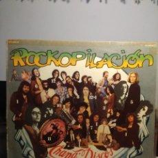 Discos de vinilo: LP ROCKOPILACION . CHAPA DISCOS ( ASFALTO, CUCHARADA, LEÑO, TEQUILA, ÑU, MOON, SMASH, BLOQUE. Lote 206350963