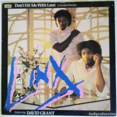 Discos de vinilo: LINX FEAT. DAVID GRANT - DON'T HOT ME WITH LOVE / IT'S MY LIFE. 1982 CHRYSALIS SOUL FUNK UK 12''. Lote 206351298