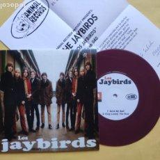 Discos de vinilo: LOS JAYBIRDS - EP SPAIN PS - MINT * CON HOJA PROMO * SAVE MY SOUL. Lote 206352743