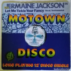 Discos de vinilo: JERMAINE JACKSON - LET ME TICKLE YOUR FANCY. 1982 MOTOWN SOUL FUNK DISCO UK 12''. Lote 206353638