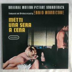 Discos de vinilo: ENNIO MORRICONE METTI UNA SERA A CENA. Lote 206353756