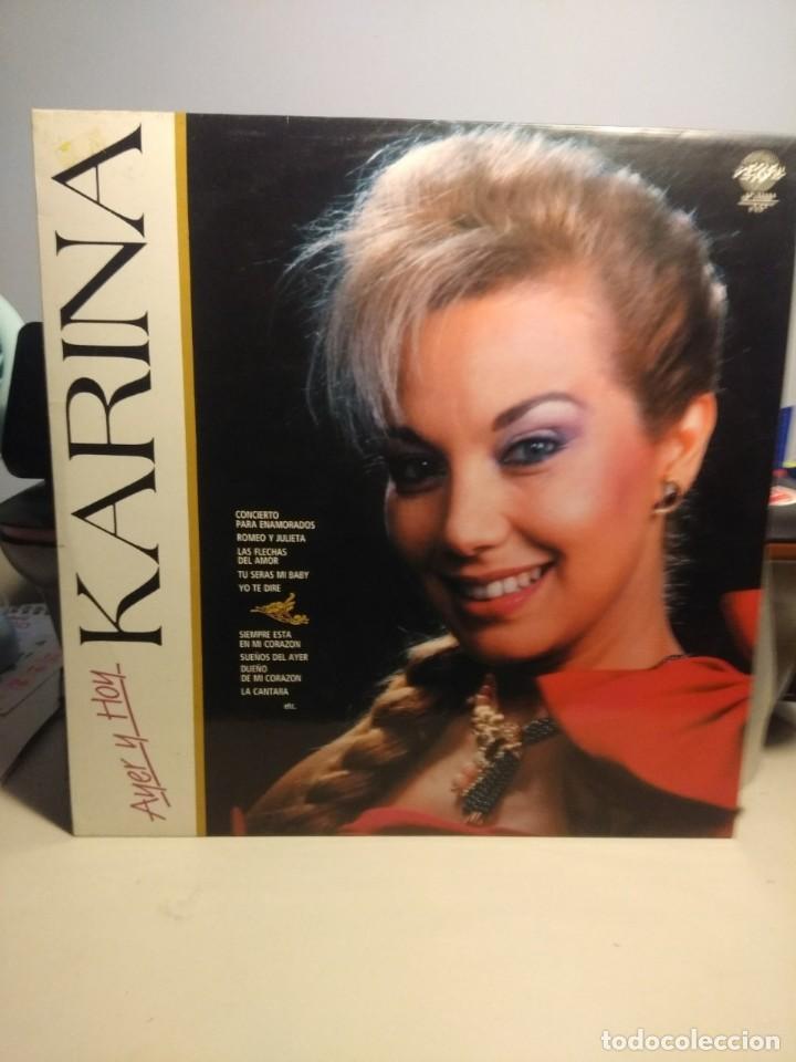 LP KARINA : AYER Y HOY ( COMPLETAMENTE NUEVO, SIN USO ) (Música - Discos - LP Vinilo - Solistas Españoles de los 50 y 60)