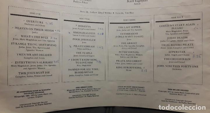 Discos de vinilo: JESUS CHRIST SUPERSTAR - DOBLE LP - ESPAÑA - 1974 - ANDREW LLOYD WEBBER - CON ENCARTE Y LIBRETO - Foto 7 - 206357425