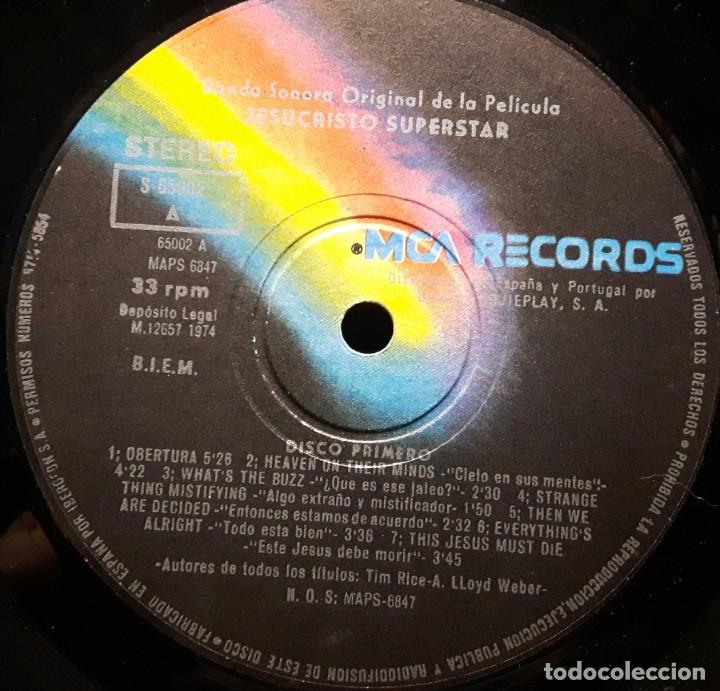 Discos de vinilo: JESUS CHRIST SUPERSTAR - DOBLE LP - ESPAÑA - 1974 - ANDREW LLOYD WEBBER - CON ENCARTE Y LIBRETO - Foto 11 - 206357425