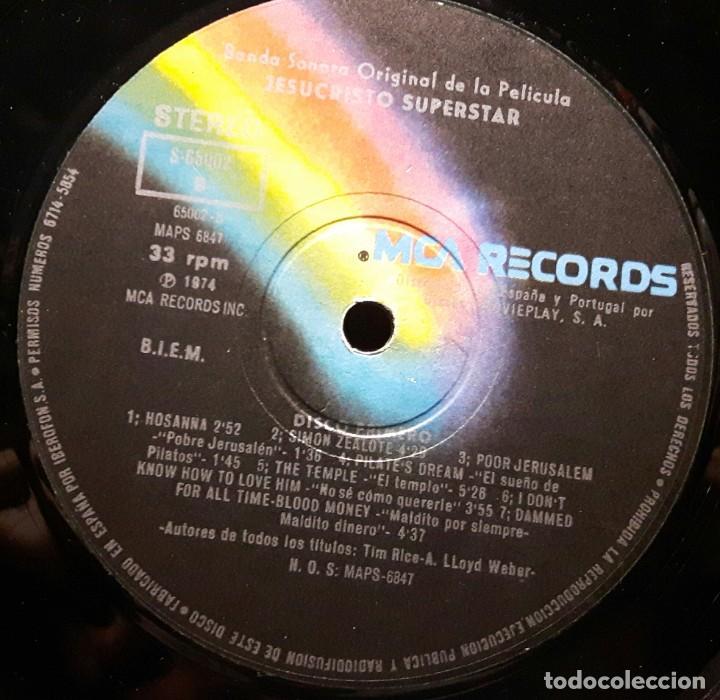 Discos de vinilo: JESUS CHRIST SUPERSTAR - DOBLE LP - ESPAÑA - 1974 - ANDREW LLOYD WEBBER - CON ENCARTE Y LIBRETO - Foto 12 - 206357425