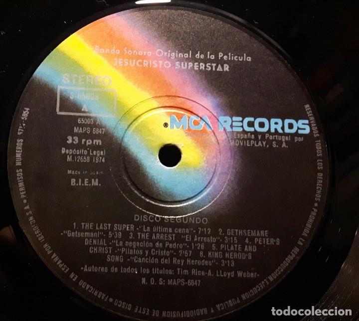 Discos de vinilo: JESUS CHRIST SUPERSTAR - DOBLE LP - ESPAÑA - 1974 - ANDREW LLOYD WEBBER - CON ENCARTE Y LIBRETO - Foto 13 - 206357425