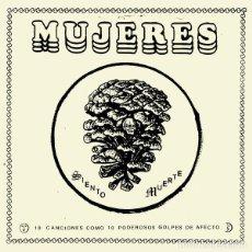 Discos de vinilo: LP MUJERES 10 CANCIONES COMO DIEZ VINILO GARAGE PUNK + GORRA DE REGALO. Lote 206358796