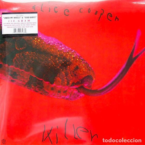 ALICE COOPER KILLER LP . GLAM ROCK AND ROLL KILLER KISS MC5 STOOGES BOWIE (Música - Discos - LP Vinilo - Rock & Roll)