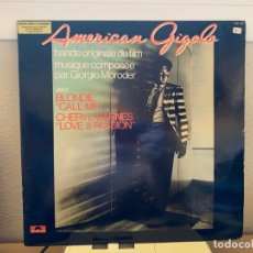 Discos de vinilo: GIORGIO MORODER – AMERICAN GIGOLO. DISCO VINILO VG+/VG+.1980. ENTREGA 24H. Lote 206361660