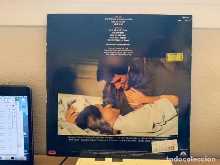 Discos de vinilo: Giorgio Moroder – American Gigolo. DISCO VINILO VG+/VG+.1980. ENTREGA 24H - Foto 2 - 206361660