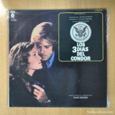 Discos de vinilo: DAVE GRUSIN - LOS 3 DIAS DEL CONDOR - LP. Lote 206366247