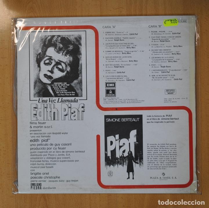 Discos de vinilo: EDITH PIAF / BETTY MARS - UNA VOZ LLAMADA EDITH PIAF - LP - Foto 2 - 206366771