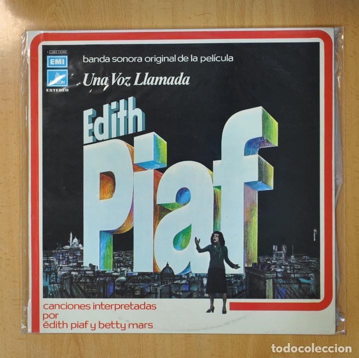 EDITH PIAF / BETTY MARS - UNA VOZ LLAMADA EDITH PIAF - LP (Música - Discos - LP Vinilo - Bandas Sonoras y Música de Actores )