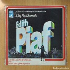 Discos de vinilo: EDITH PIAF / BETTY MARS - UNA VOZ LLAMADA EDITH PIAF - LP. Lote 206366771